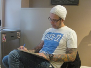 photo #4: mid-consult with bryan as he sketches some ideas.
