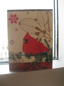 mom gets me, too! a cardinal christmas card - perfect!