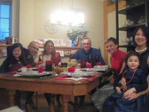 "the traditional ""around the table"" photo!"