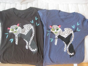 the same tee! from the brother/sil ana/the girls and then from mom and dad - purchased in two different cities, two different stores!