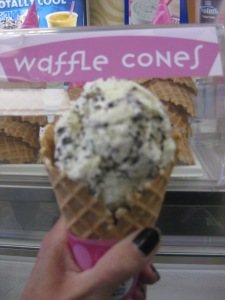 got my choco chip cone - just as delicious as anticipated!